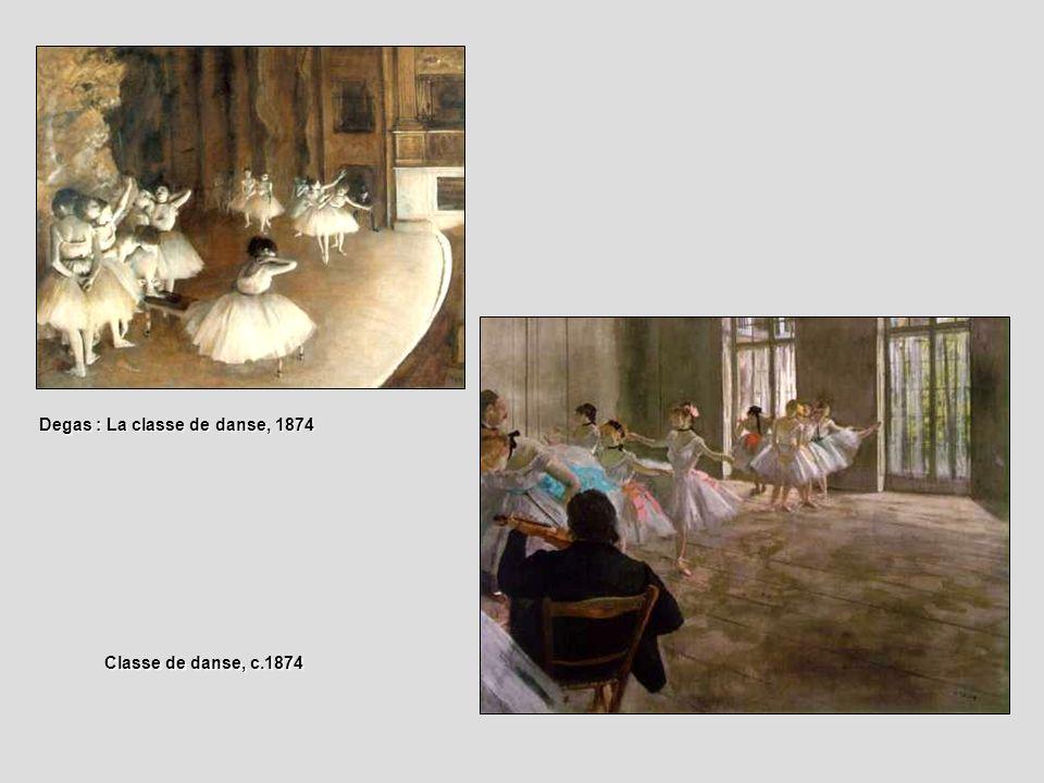 Degas : La classe de danse, 1874 Classe de danse, c.1874