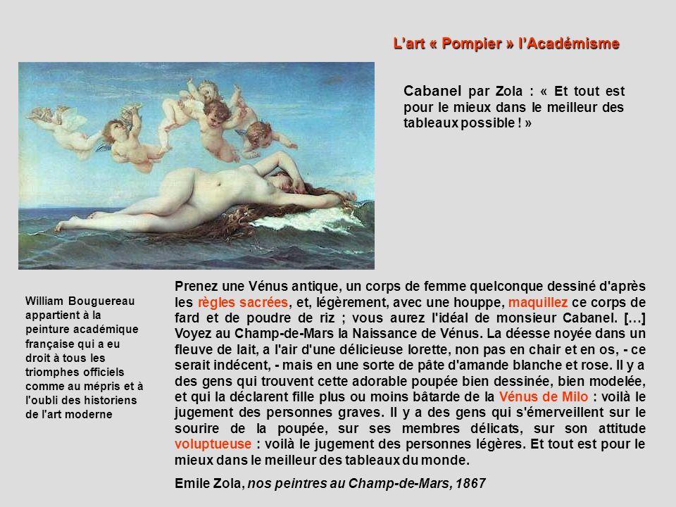 … dans le goût classique, les toiles de M.Cabanel et de M.