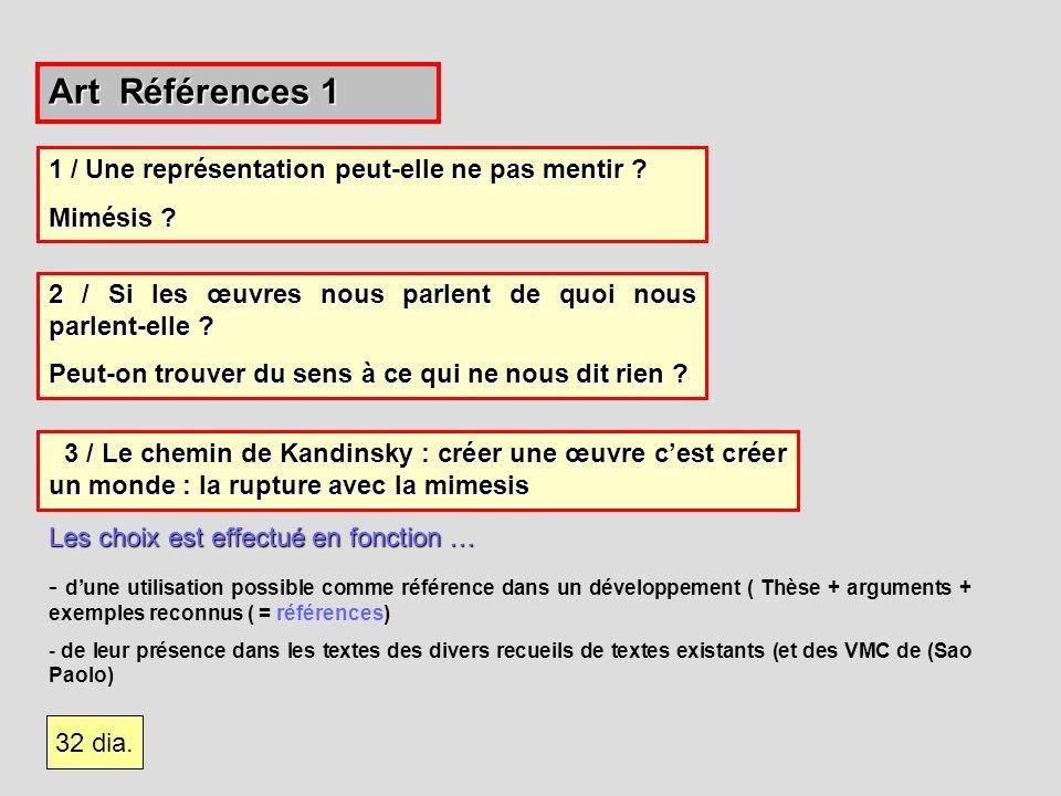 Art Références 1 Les choix est effectué en fonction … - dune utilisation possible comme référence dans un développement ( Thèse + arguments + exemples