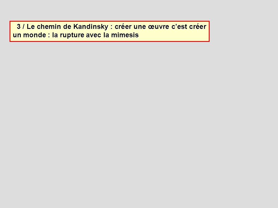 3 / Le chemin de Kandinsky : créer une œuvre cest créer un monde : la rupture avec la mimesis 3 / Le chemin de Kandinsky : créer une œuvre cest créer