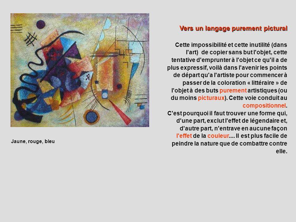 Jaune-rouge-bleu, 1925 Une toile manifeste et synthèse des périodes de lart de Kandinsky.