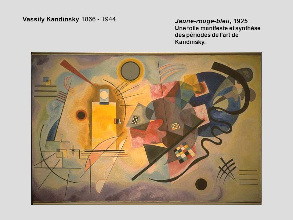 Jaune-rouge-bleu, 1925 Une toile manifeste et synthèse des périodes de lart de Kandinsky. Vassily Kandinsky 1866 - 1944