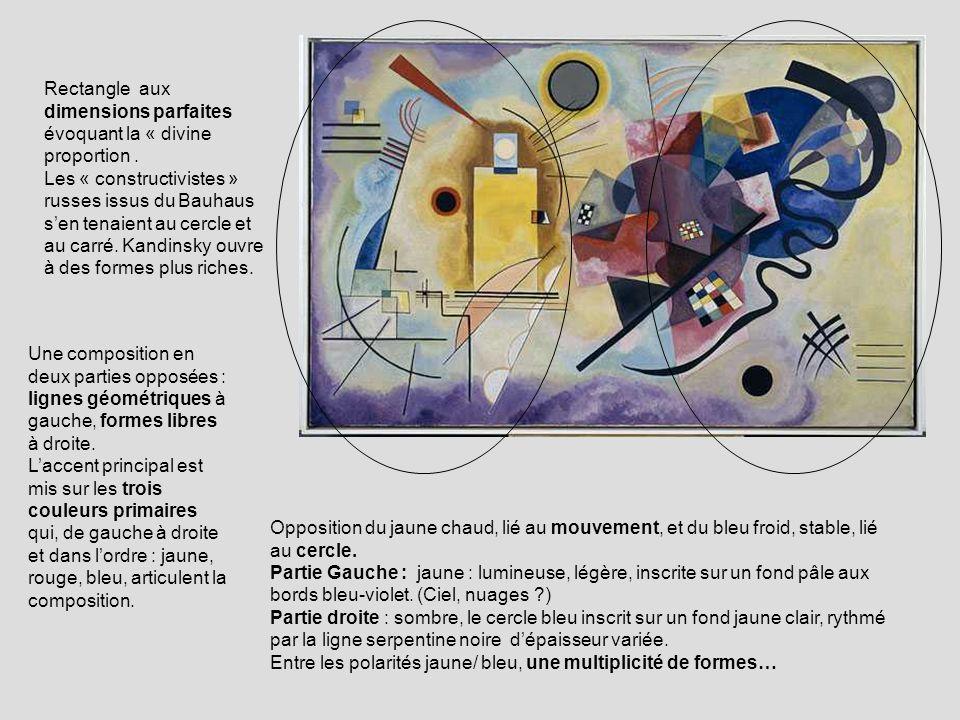 Rectangle aux dimensions parfaites évoquant la « divine proportion. Les « constructivistes » russes issus du Bauhaus sen tenaient au cercle et au carr