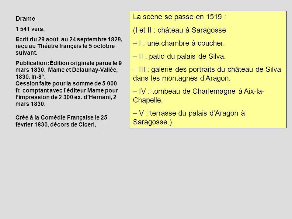 Drame 1 541 vers. Ecrit du 29 août au 24 septembre 1829, reçu au Théâtre français le 5 octobre suivant. Publication :Édition originale parue le 9 mars