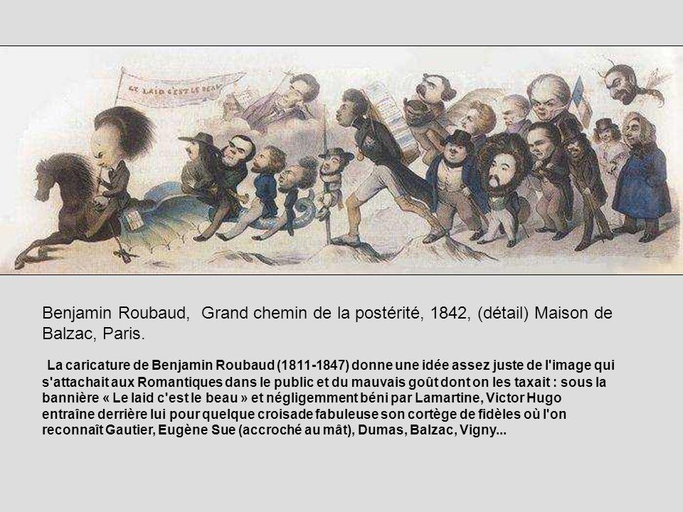 Benjamin Roubaud, Grand chemin de la postérité, 1842, (détail) Maison de Balzac, Paris. La caricature de Benjamin Roubaud (1811-1847) donne une idée a