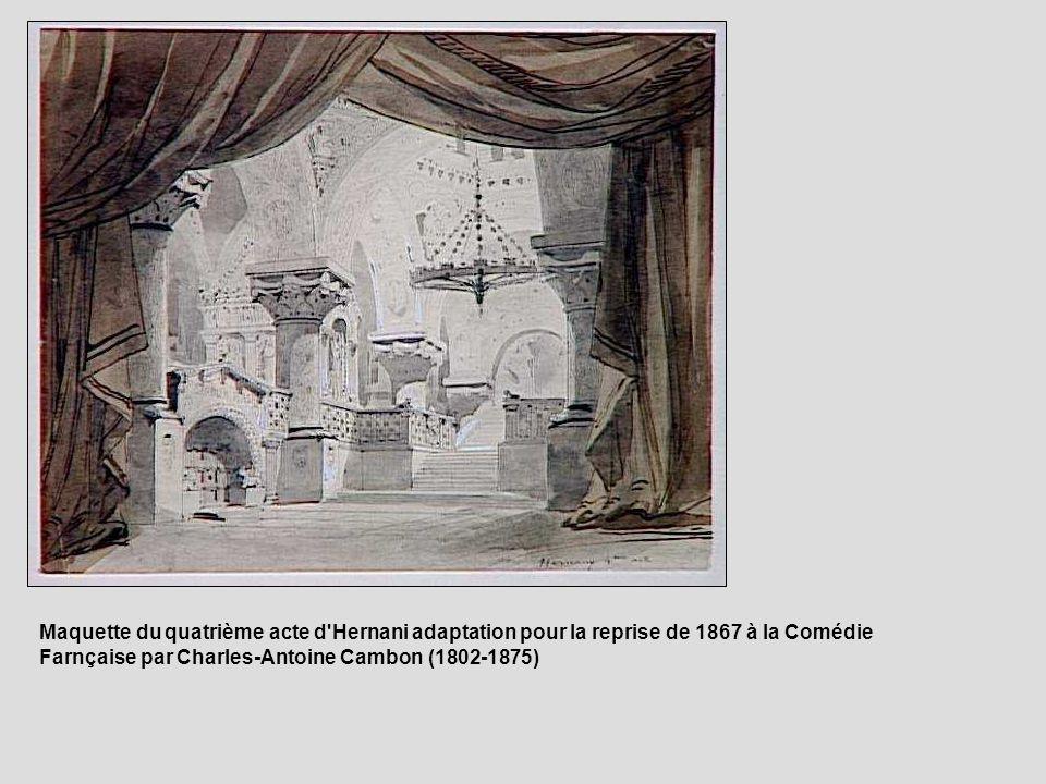 Maquette du quatrième acte d'Hernani adaptation pour la reprise de 1867 à la Comédie Farnçaise par Charles-Antoine Cambon (1802-1875)