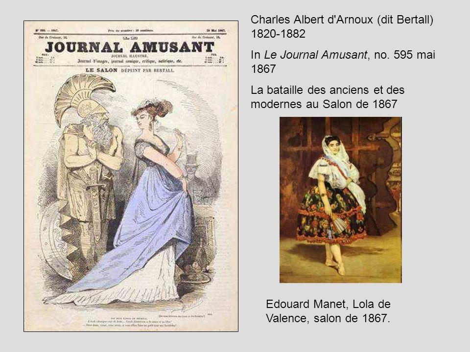 Charles Albert d'Arnoux (dit Bertall) 1820-1882 In Le Journal Amusant, no. 595 mai 1867 La bataille des anciens et des modernes au Salon de 1867 Edoua