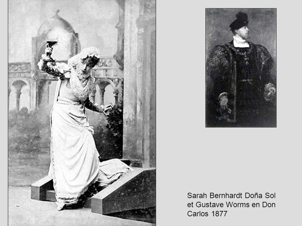 Sarah Bernhardt Doña Sol et Gustave Worms en Don Carlos 1877