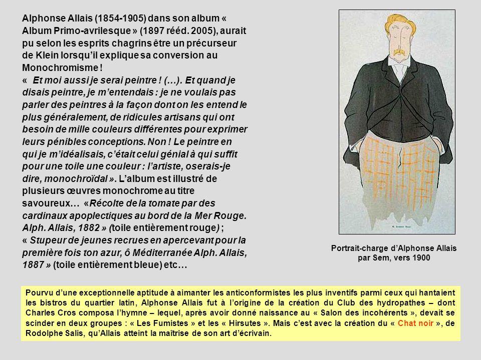 Alphonse Allais (1854-1905) dans son album « Album Primo-avrilesque » (1897 rééd.