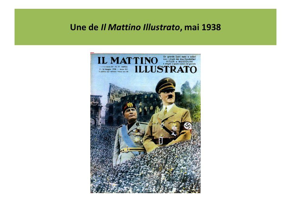 Une de Il Mattino Illustrato, mai 1938