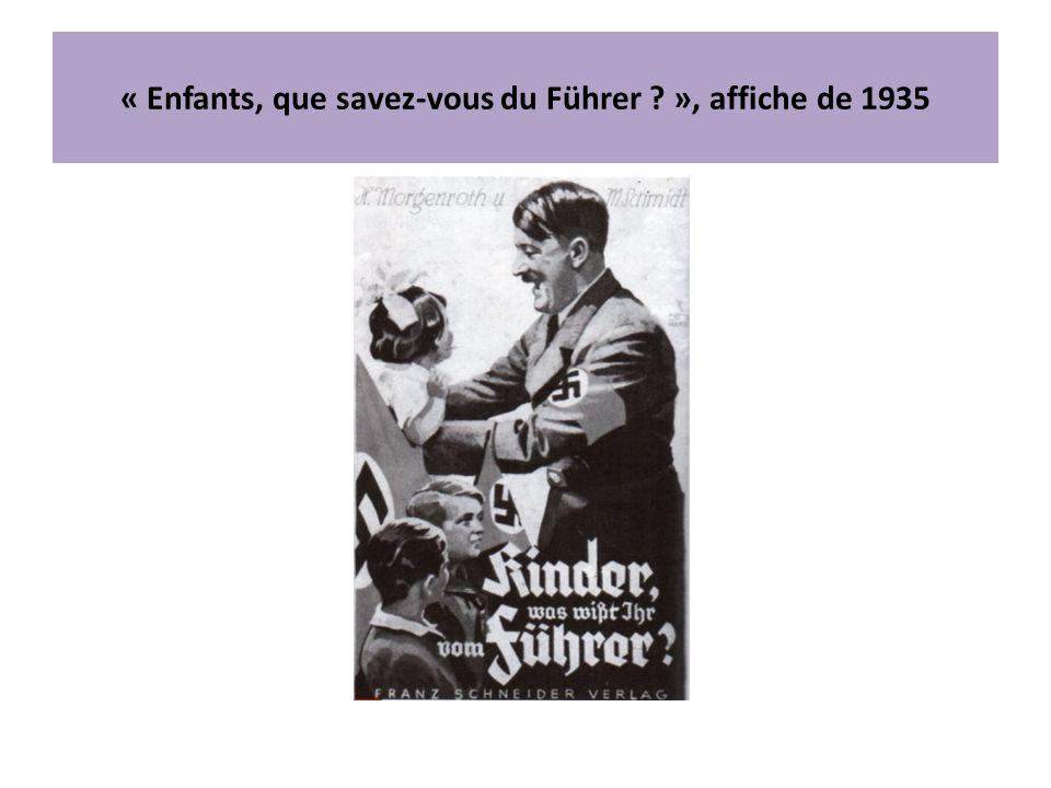 « Enfants, que savez-vous du Führer ? », affiche de 1935