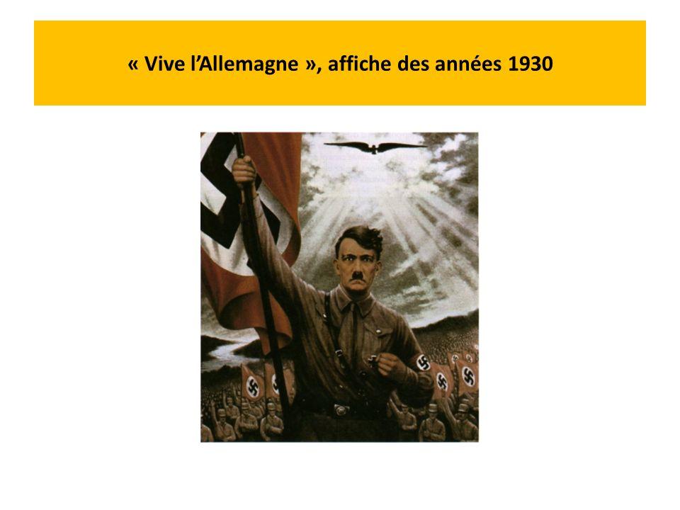 Hubert Lanzinger, Le porte-drapeau, 1938 Hitler représenté en chevalier teutonique (ordre militaire germanique qui colonisa la Prusse et les pays baltes aux XIIIème et XIVème siècles)