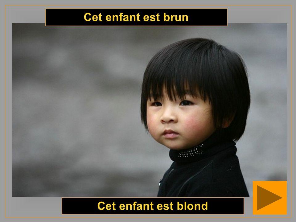 Cet enfant est blond Cet enfant est brun