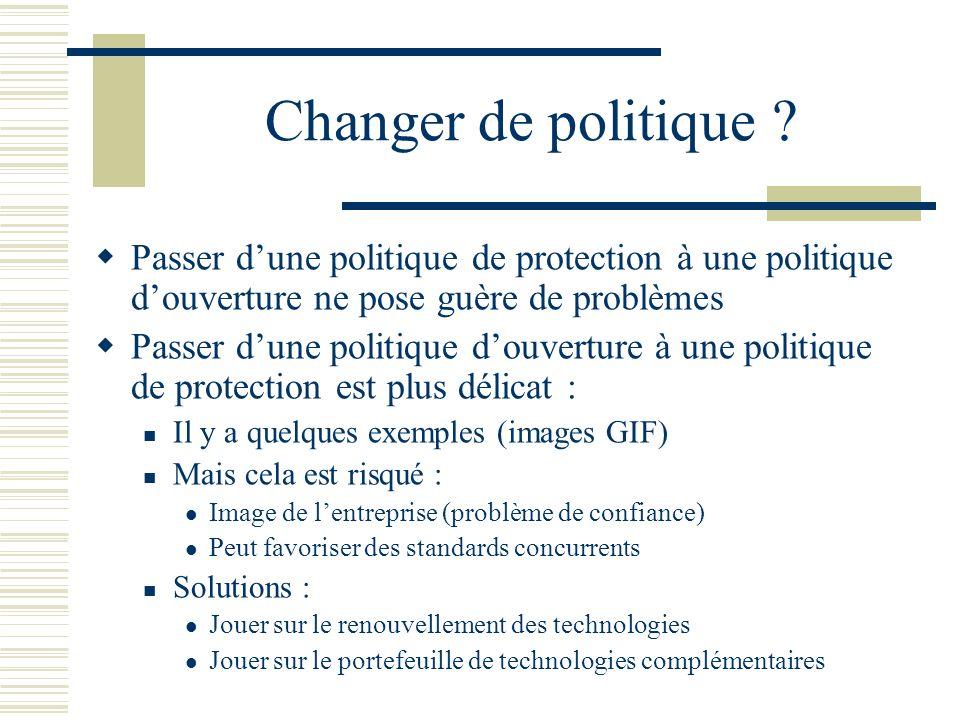Changer de politique ? Passer dune politique de protection à une politique douverture ne pose guère de problèmes Passer dune politique douverture à un