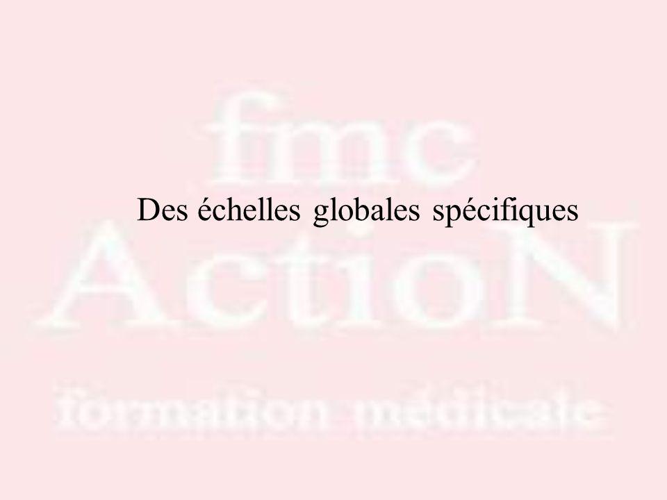 Des échelles globales spécifiques