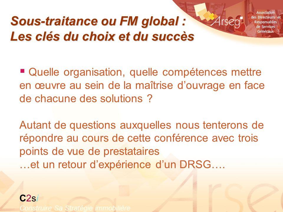 Association des Directeurs et Responsables de Services Généraux Du FM, à lexploitation globale en Haute Qualité Environnementale Jean-Philippe Buisson