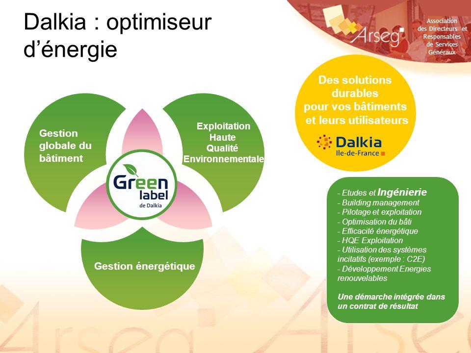 Association des Directeurs et Responsables de Services Généraux Gestion globale du bâtiment Exploitation Haute Qualité Environnementale Gestion énergé