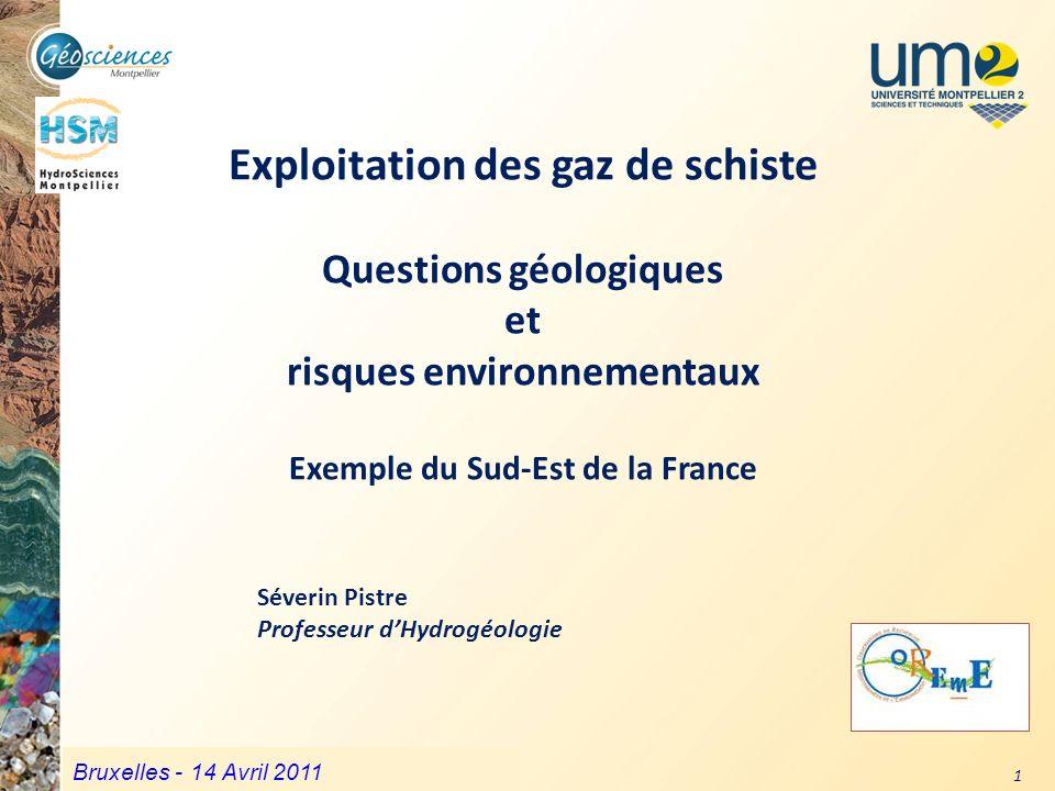 Communauté de Communes du Grand Pic Saint Loup – 3 mars 2011 1 Exploitation des gaz de schiste Questions géologiques et risques environnementaux Exemp