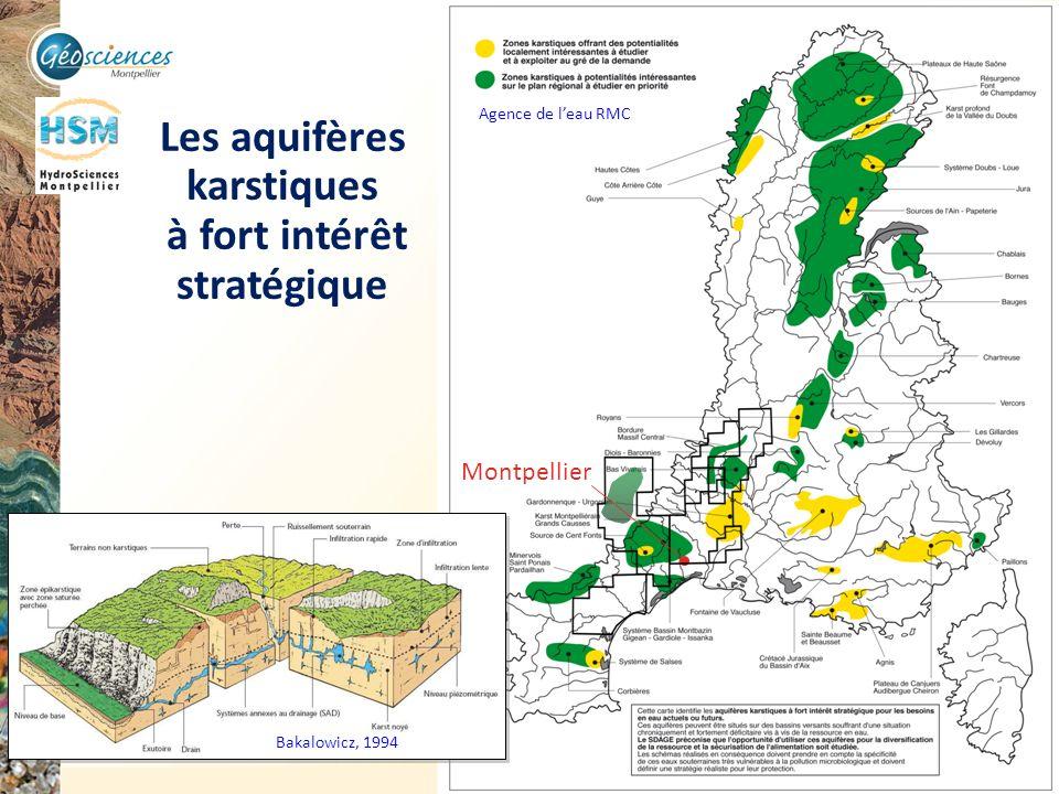 Communauté de Communes du Grand Pic Saint Loup – 3 mars 2011 22 Montpellier Les aquifères karstiques à fort intérêt stratégique Bakalowicz, 1994 Agenc