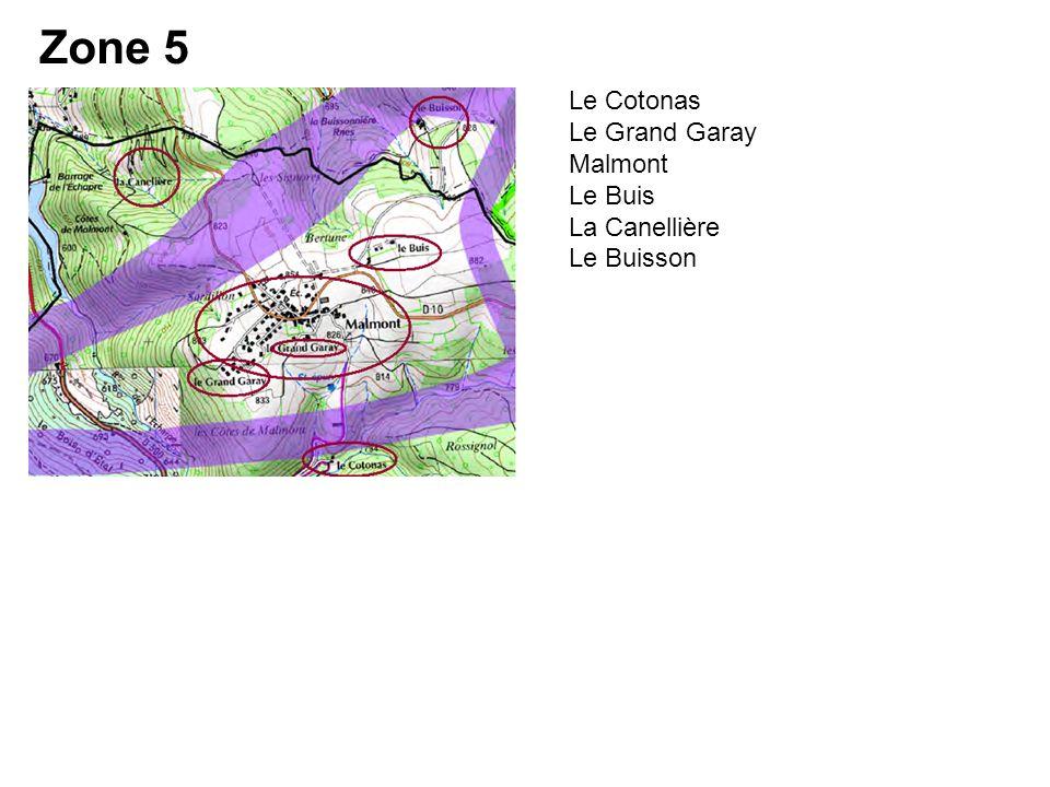 Le Cotonas Le Grand Garay Malmont Le Buis La Canellière Le Buisson Zone 5