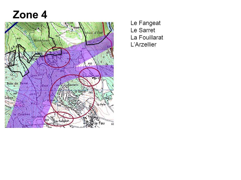 Zone 4 Le Fangeat Le Sarret La Fouillarat LArzellier