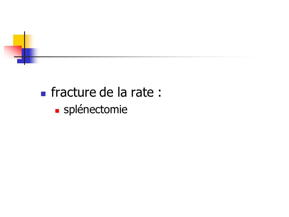 fracture de la rate : splénectomie