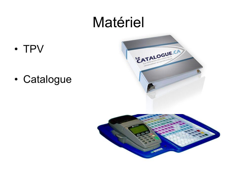 Matériel TPV Catalogue