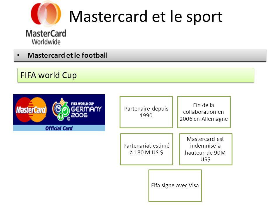 Mastercard et le sport Mastercard et le football FIFA world Cup Partenaire depuis 1990 Fin de la collaboration en 2006 en Allemagne Mastercard est ind