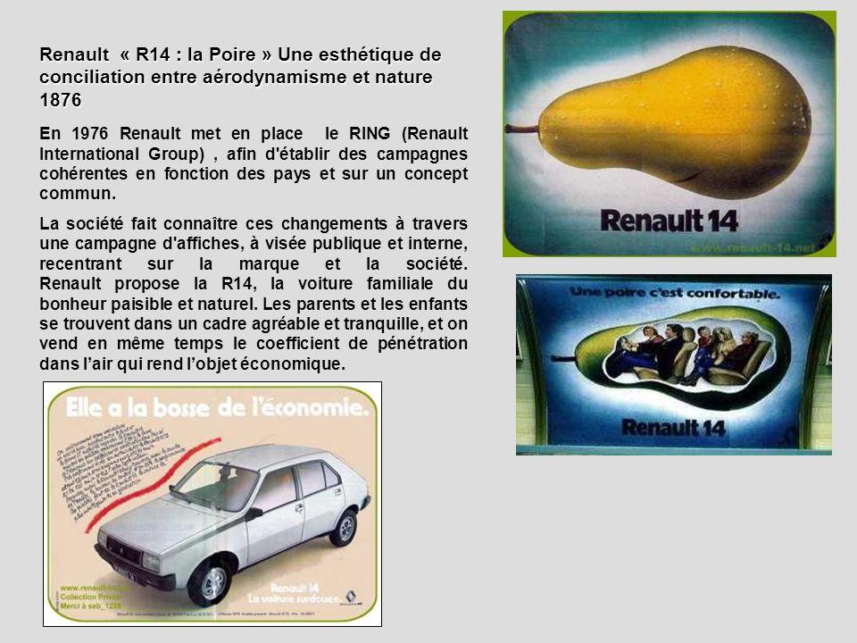En 1976 Renault met en place le RING (Renault International Group), afin d'établir des campagnes cohérentes en fonction des pays et sur un concept com