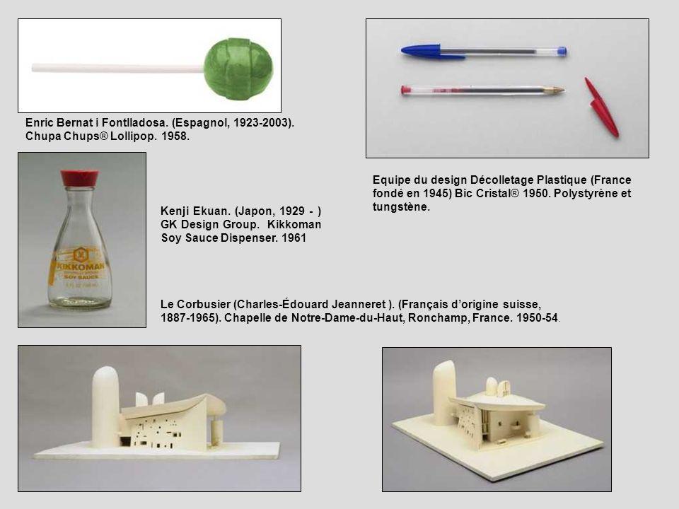 Enric Bernat i Fontlladosa. (Espagnol, 1923-2003). Chupa Chups® Lollipop. 1958. Kenji Ekuan. (Japon, 1929 - ) GK Design Group. Kikkoman Soy Sauce Disp