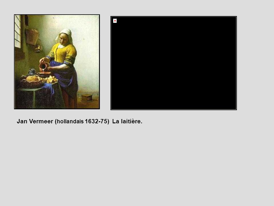 Jan Vermeer ( hollandais 1632-75) La laitière.