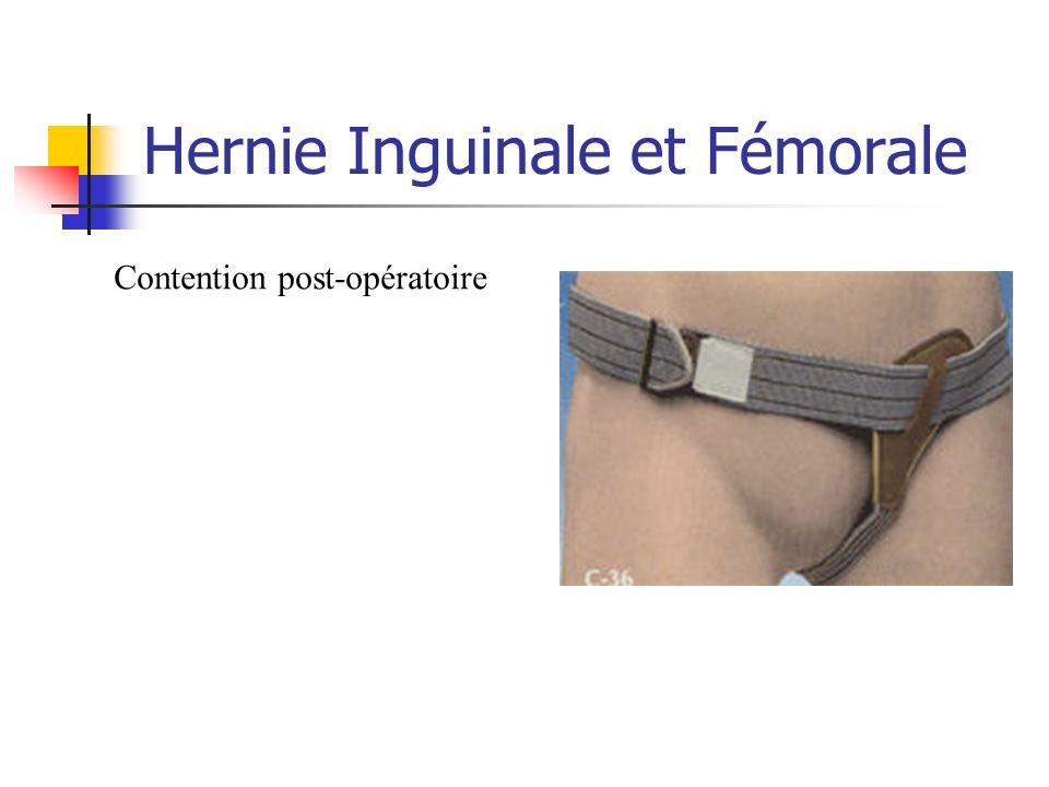 Hernie Inguinale et Fémorale Contention post-opératoire