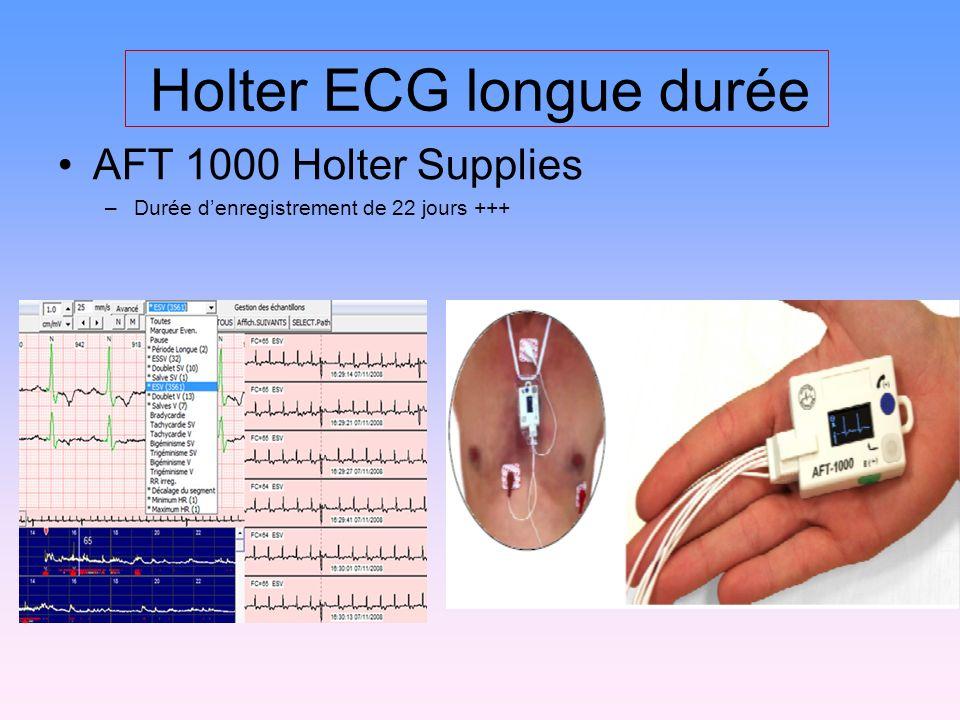 Holter ECG longue durée AFT 1000 Holter Supplies –Durée denregistrement de 22 jours +++