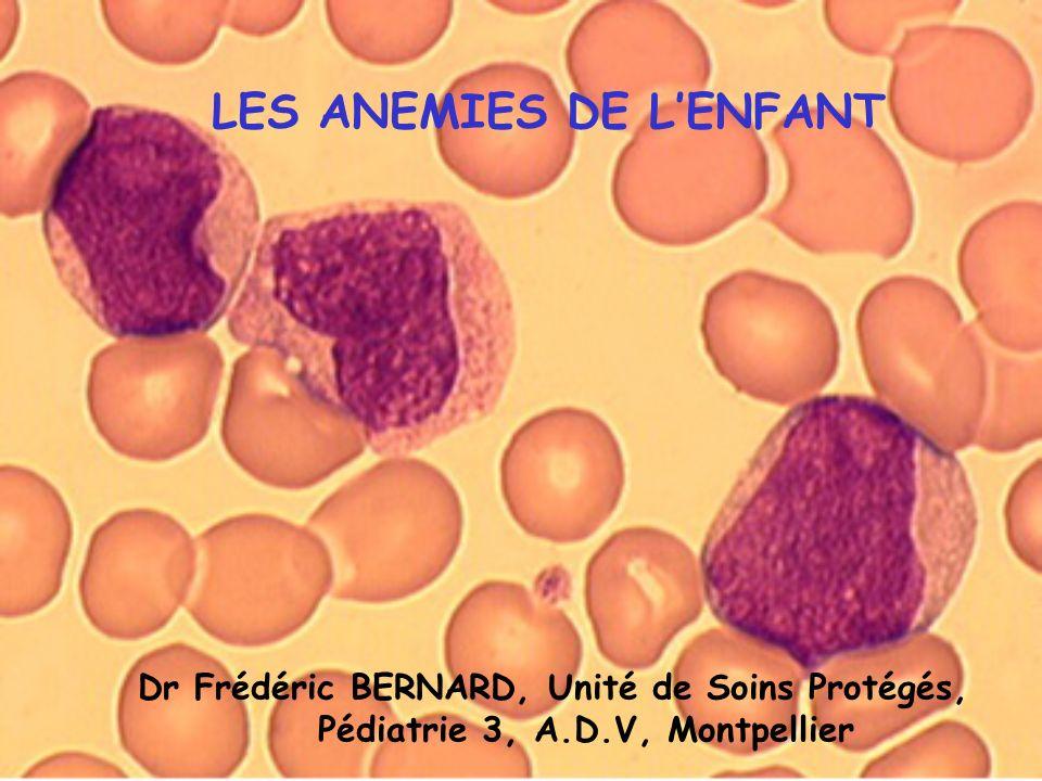 Diminution du taux des valeurs de lHémoglobine en dessous de 2 grammes par rapport aux valeurs normales pour lage.