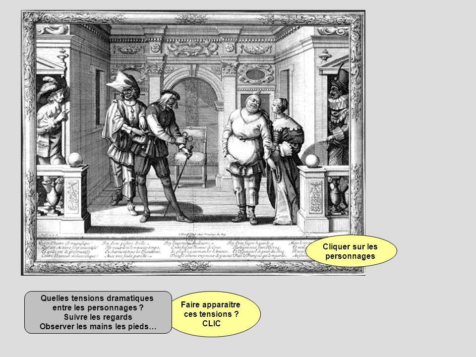 Sur la gravure : à Jardin, un Français, à Cour, un Espagnol.