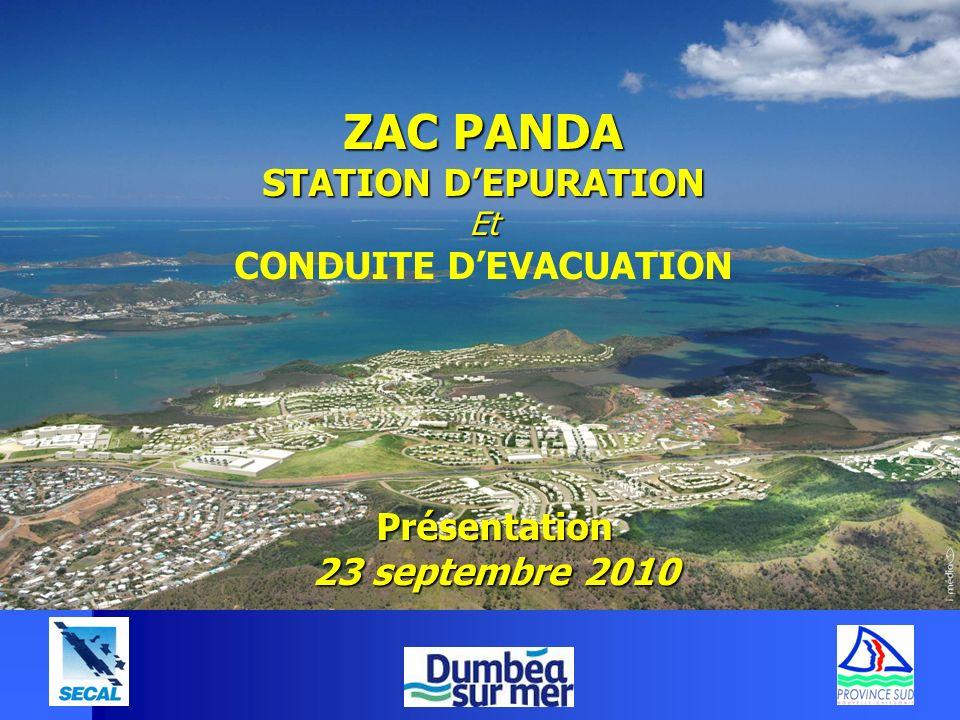 ZAC PANDA STATION DEPURATION Et CONDUITE DEVACUATION Présentation 23 septembre 2010
