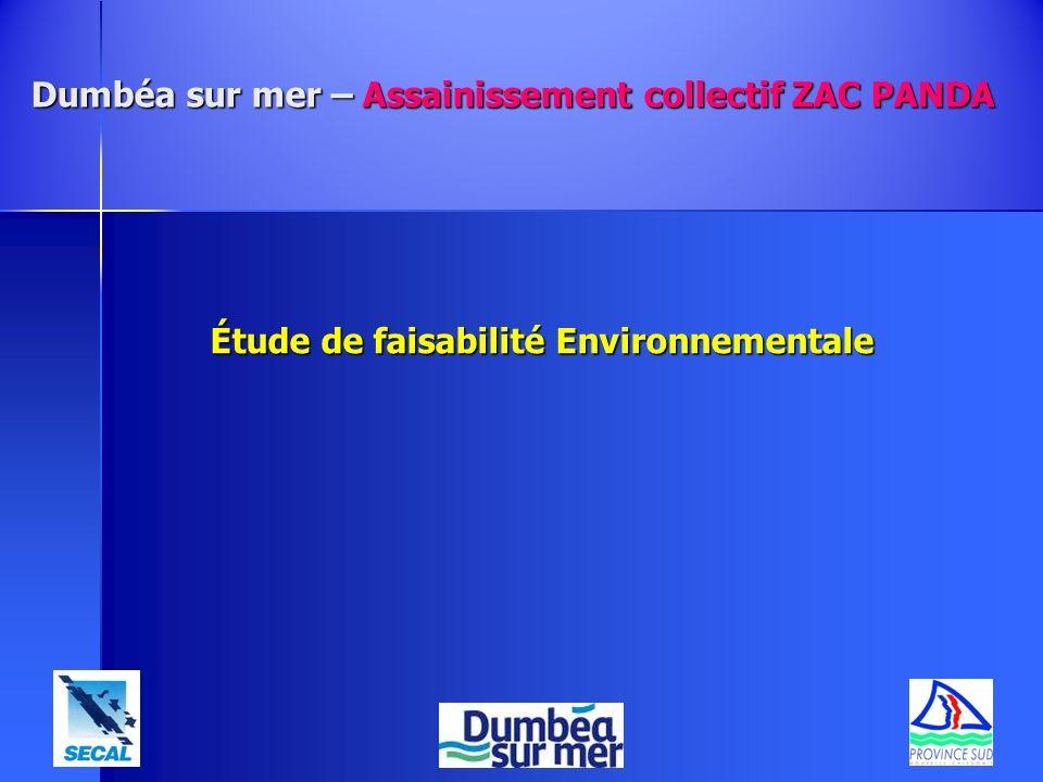 Dumbéa sur mer – Assainissement collectif ZAC PANDA Étude de faisabilité Environnementale