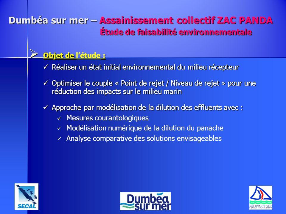 Objet de : Objet de létude : Réaliser un état initial environnemental du milieu récepteur Réaliser un état initial environnemental du milieu récepteur