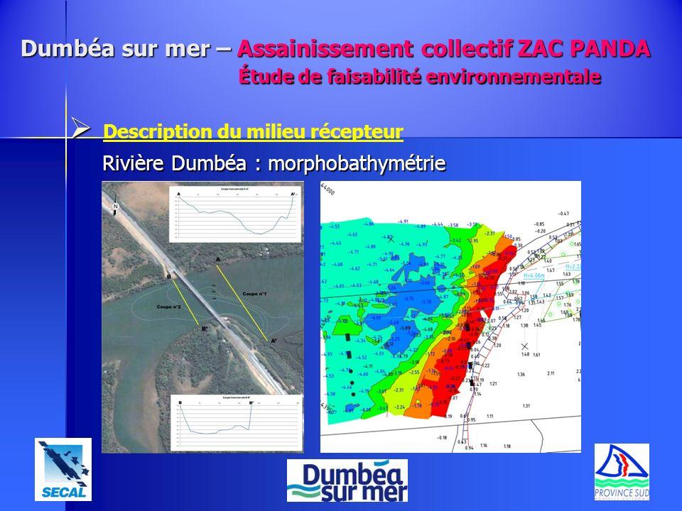 Description du milieu récepteur Rivière Dumbéa : morphobathymétrie Dumbéa sur mer – Assainissement collectif ZAC PANDA Étude de faisabilité environnem