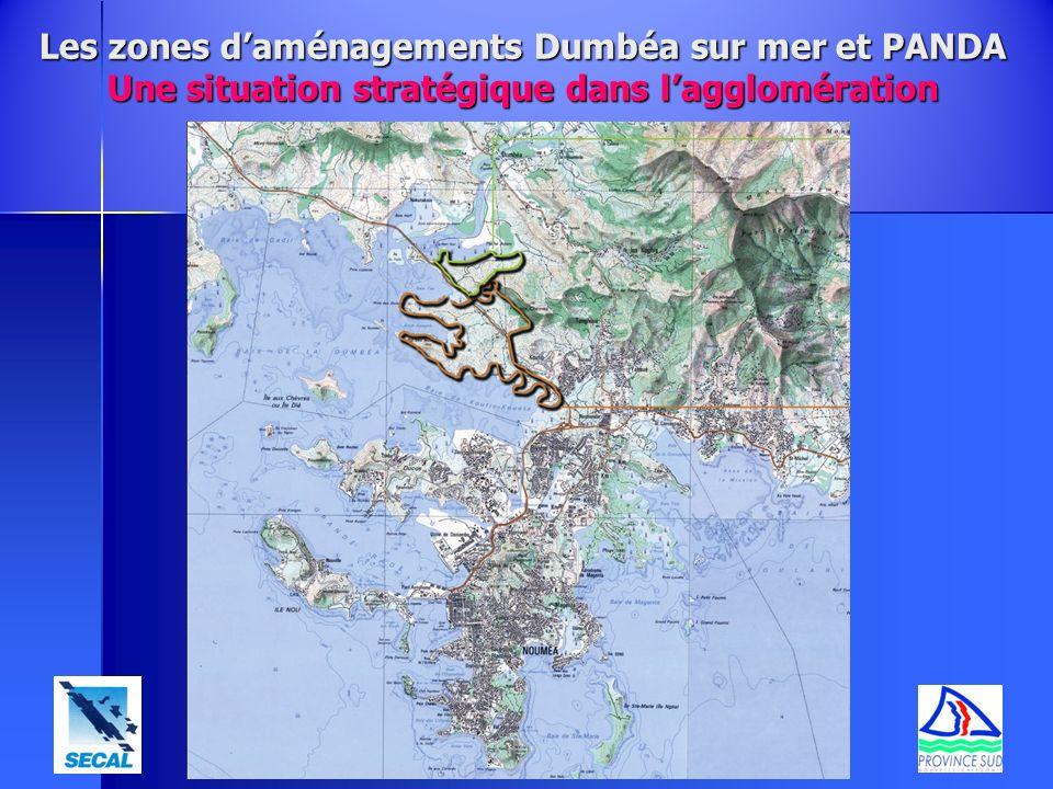 Les zones daménagements Dumbéa sur mer et PANDA Une situation stratégique dans lagglomération