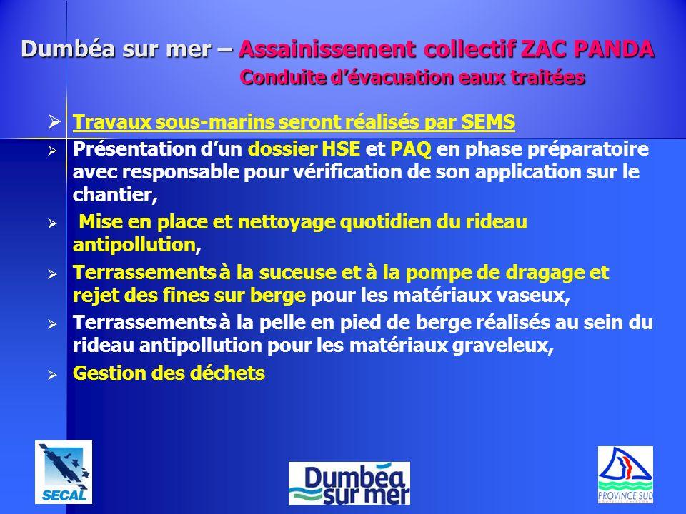 Travaux sous-marins seront réalisés par SEMS Présentation dun dossier HSE et PAQ en phase préparatoire avec responsable pour vérification de son appli