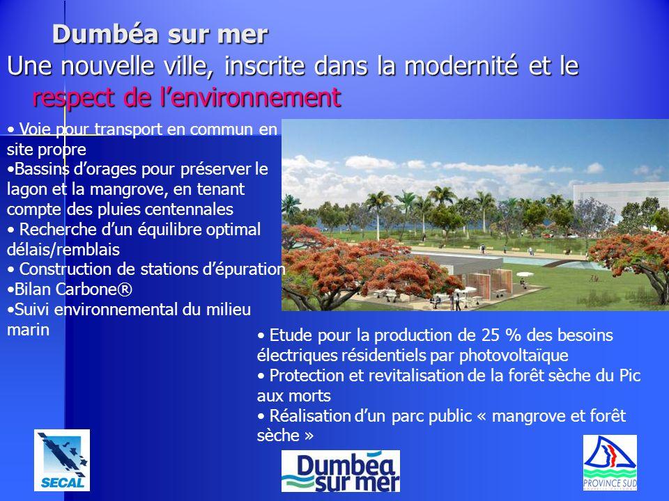 Dumbéa sur mer Une nouvelle ville, inscrite dans la modernité et le respect de lenvironnement Etude pour la production de 25 % des besoins électriques