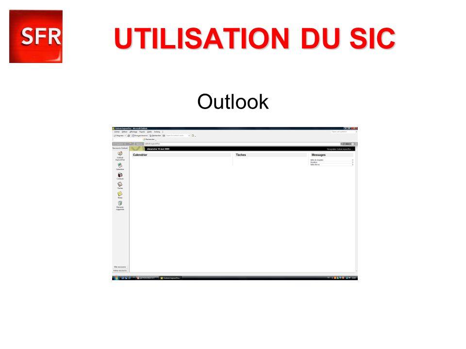 Outlook UTILISATION DU SIC
