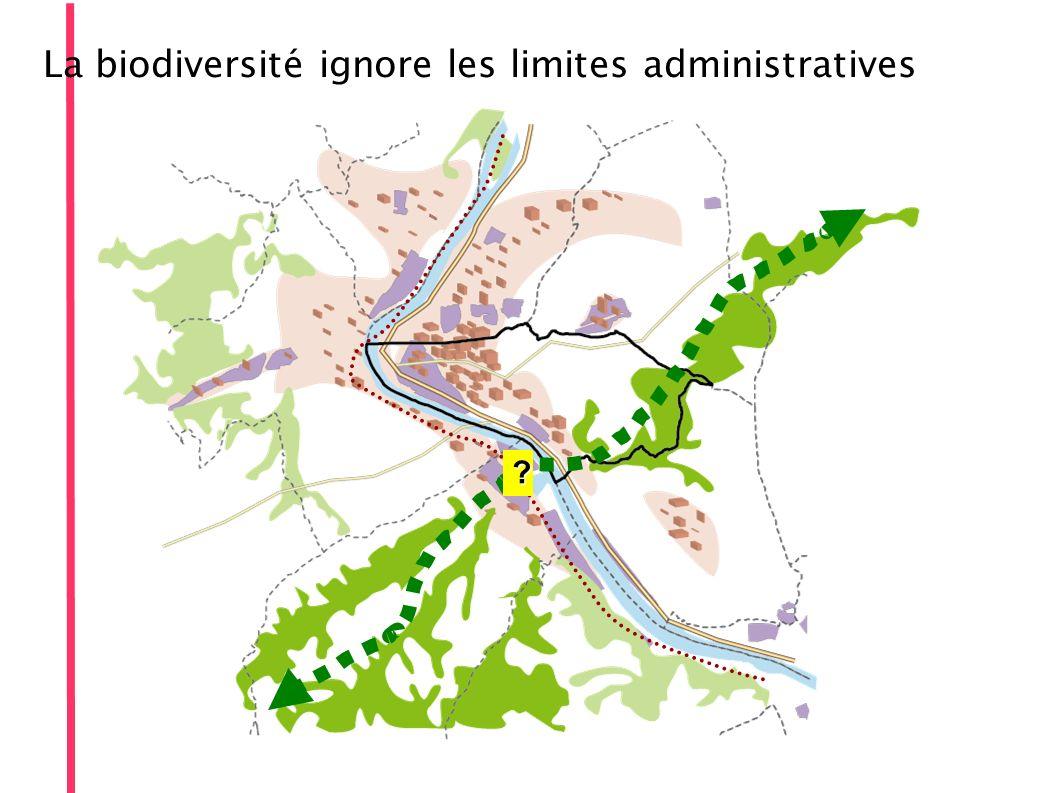 La biodiversité ignore les limites administratives