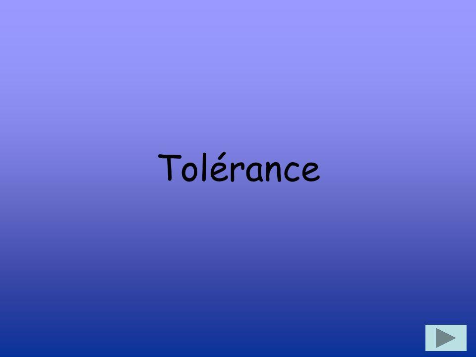 Quest-ce que cest la tolérance.