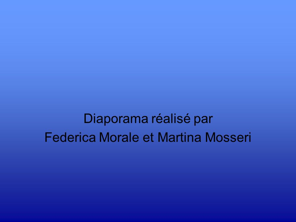 Diaporama réalisé par Federica Morale et Martina Mosseri