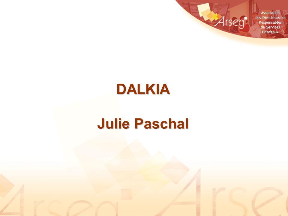 Association des Directeurs et Responsables de Services Généraux DALKIA Julie Paschal