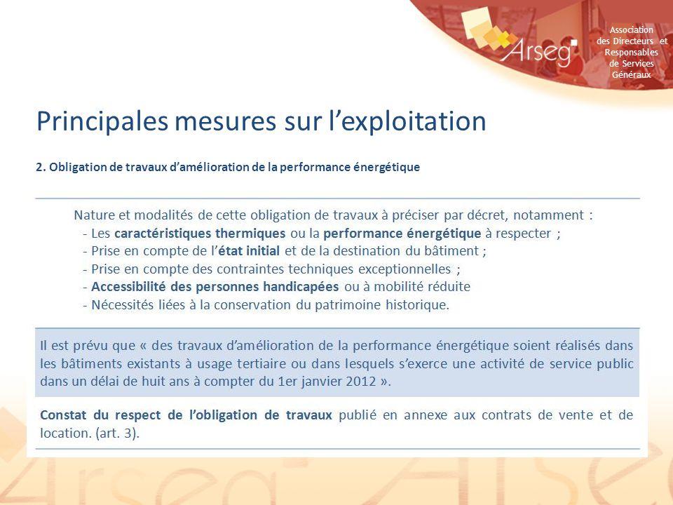 Association des Directeurs et Responsables de Services Généraux Retour dexpérience 2.