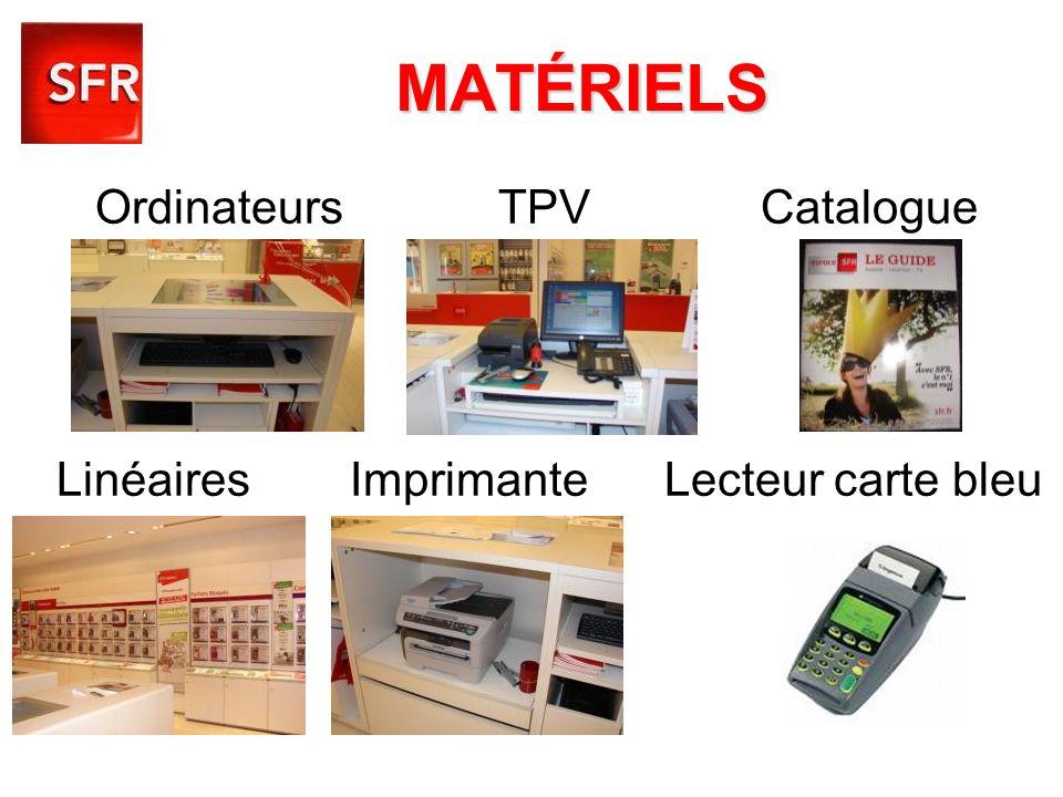 MATÉRIELS Ordinateurs TPV Catalogue Linéaires Imprimante Lecteur carte bleu