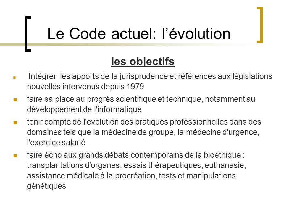 Le Code actuel: lévolution les objectifs Intégrer les apports de la jurisprudence et références aux législations nouvelles intervenus depuis 1979 fair